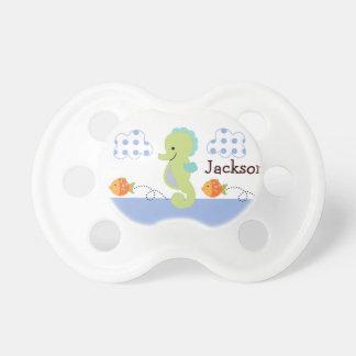 """Pacificador personalizado """"del Seahorse azul de la Chupetes Para Bebes"""