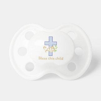 Pacificador personalizado el | del bautismo del chupete de bebé