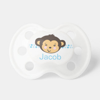 Pacificador personalizado el del mono del muchac chupetes de bebe