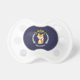 Pacificador personalizado guirnalda del Fox Chupete De Bebe