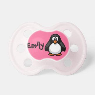 Pacificador personalizado lindo del pingüino chupete de bebé