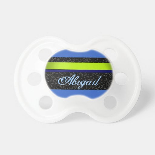 Pacificador personalizado personalizado azul y ver chupetes de bebe