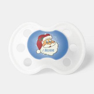 Pacificador personalizado Santa clásico del bebé Chupete