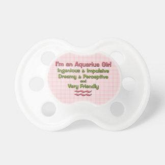 Pacificador personalizado zodiaco del acuario de l chupetes para bebes