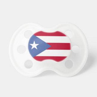 Pacificador puertorriqueño del bebé de la bandera chupetes