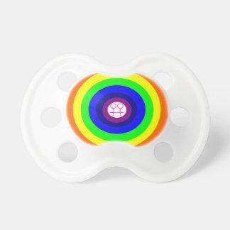 Pacificador redondo del arco iris de las lesbianas chupetes para bebes