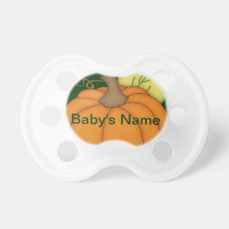 Pacificador regordete personalizado de la calabaza chupetes para bebés