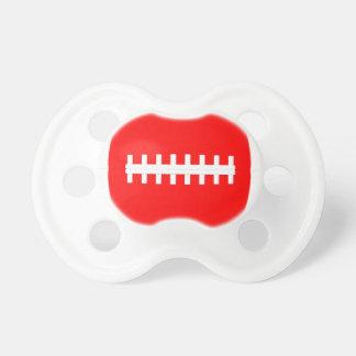 Pacificador rojo de encargo del fútbol chupete