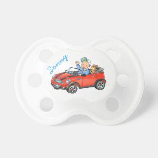 Pacificador rojo del coche del juguete chupetes para bebes