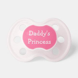 Pacificador rosado de la niña de la princesa del p chupete