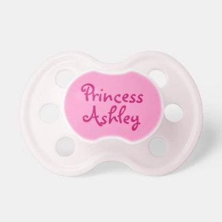 Pacificador rosado de la niña de princesa chupetes para bebes