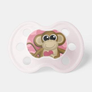 Pacificador rosado del amor de los chicas lindos d chupetes para bebes