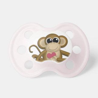 Pacificador rosado del amor de los chicas lindos d chupetes de bebé