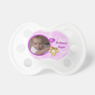 Pacificador rosado del bebé del oso de peluche chupetes para bebés