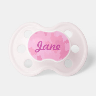 Pacificador rosado personalizado del camuflaje chupetes de bebe