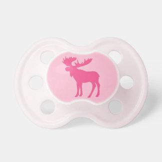 Pacificador rosado simple del bebé del tema de los chupetes para bebes