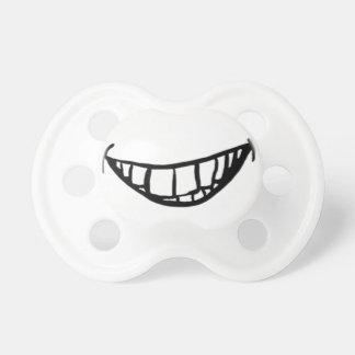 Pacificador torpe de la sonrisa chupetes para bebes