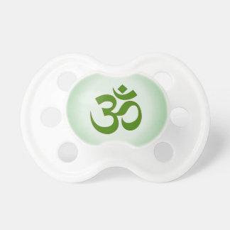 Pacificador verde de OM Chupete De Bebe