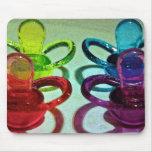 Pacificadores coloreados alfombrilla de ratón