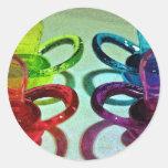 Pacificadores coloreados etiquetas redondas