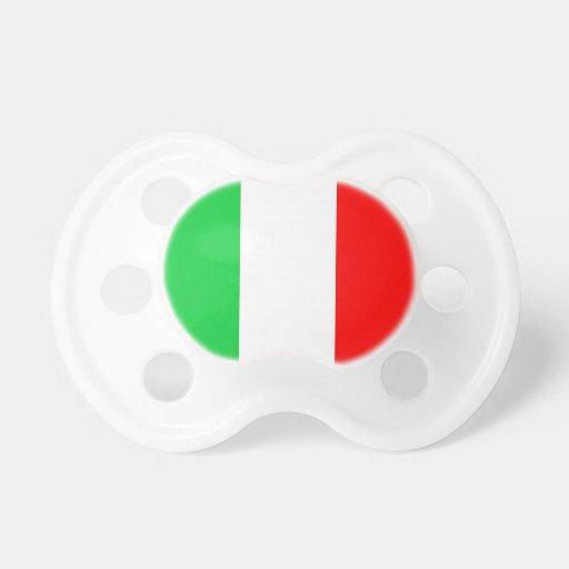 Pacificadores de la bandera de Italia Chupetes
