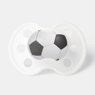 Pacificadores del balón de fútbol del fútbol chupete de bebé