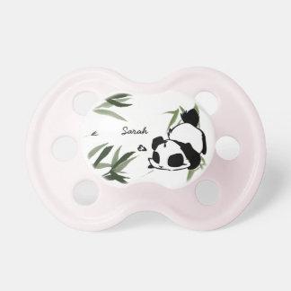 Pacificadores lindos personalizados de la panda chupetes para bebés