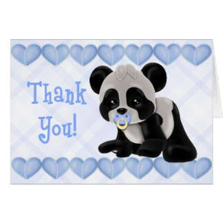 Pacified Panda Thank You Card