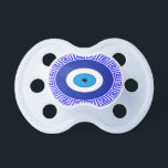 "Pacifier-evil eye greek symbol pacifier<br><div class=""desc"">Pacifier-evil eye greek symbol</div>"