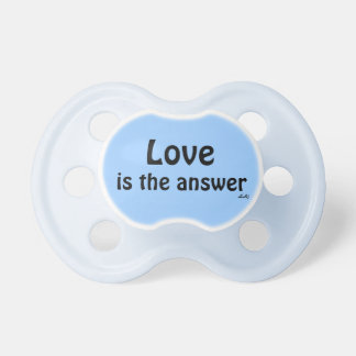 Pacifier Love is the Answer on Blue