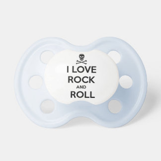 pacifier, love rock and roll pacifier
