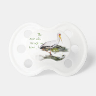 Pacifier of the stork who brought me home