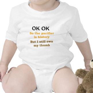 Pacifier Baby Bodysuits