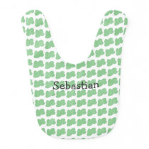 Pacifier with cloud pattern baby bib