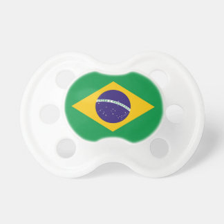 Pacifier with flag of Brazil