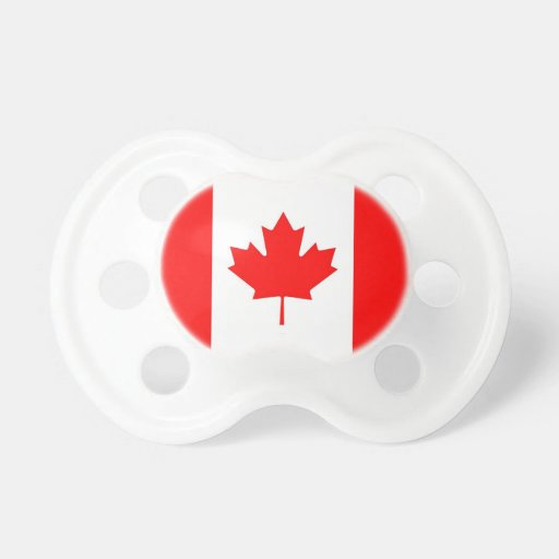 Pacifier with flag of Canada