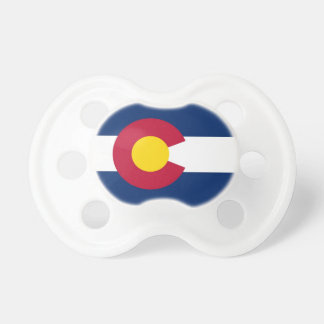 Pacifier with flag of Colorado, U.S.A. BooginHead Pacifier