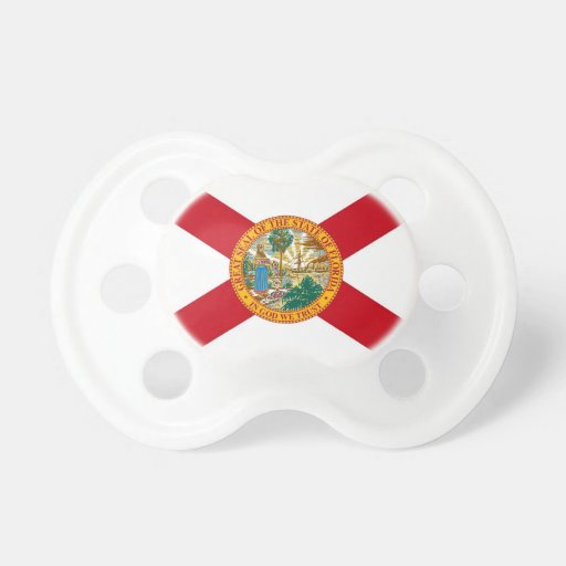 Pacifier with flag of Florida, U.S.A.