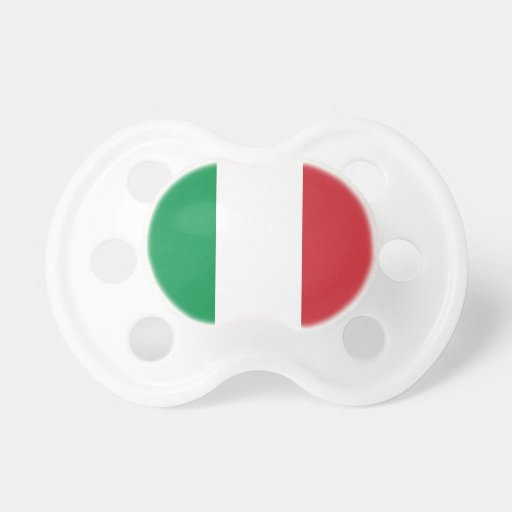 Pacifier with flag of Italy