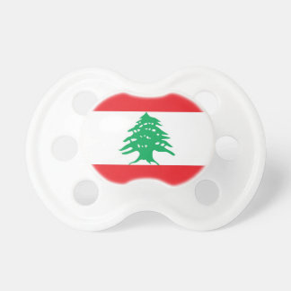 Pacifier with flag of Lebanon