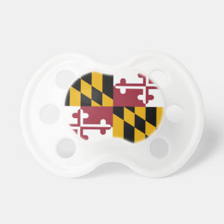 Pacifier with flag of Maryland, U.S.A.