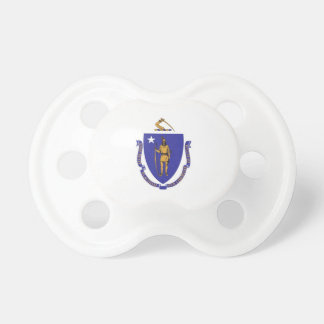 Pacifier with flag of Massachusetts, U.S.A.