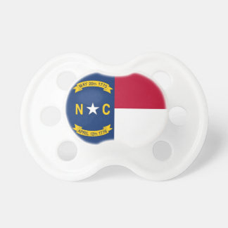 Pacifier with flag of North Carolina, U.S.A.