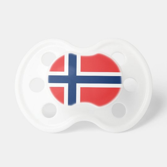 Pacifier with flag of Norway