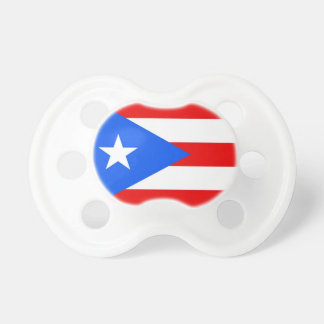 Pacifier with flag of Puerto Rico, U.S.A. BooginHead Pacifier