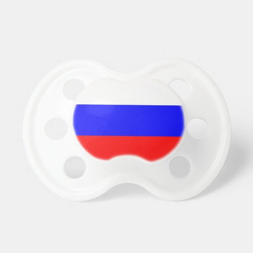 Pacifier with flag of Russia