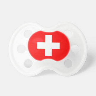 Pacifier with flag of Switzerland