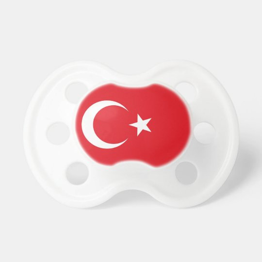 Pacifier with flag of Turkey
