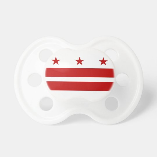 Pacifier with flag of Washington DC, U.S.A.