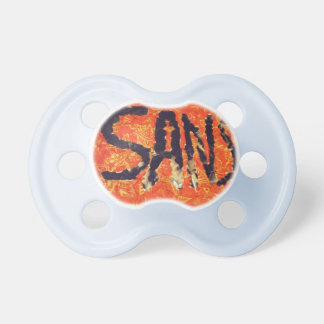 pacifier with last name sans